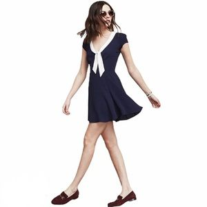 Reformation Limestone Sailor French Girl Dress S
